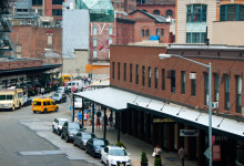 Washington Street i Meatpacking District från ovan, New York