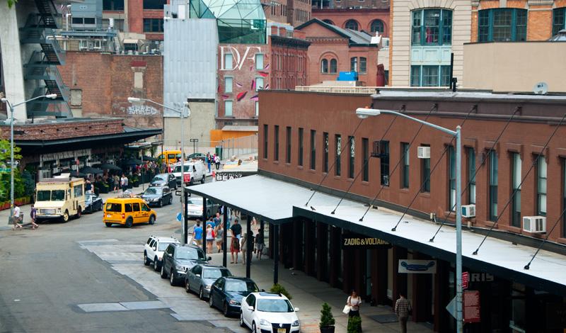 Washington Street i Meatpacking District från ovan, New York