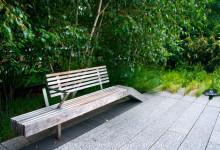 Designade parkbänkar, High Line Park, New York