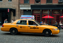 Taxi vid 9th Avenue, MeatpackingDistrict NYC