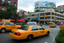 Taxibilar vid 9th Avenue, MeatpackingDistrict NYC