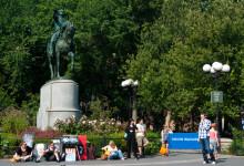 George Washington staty mitt på Union Square, New York