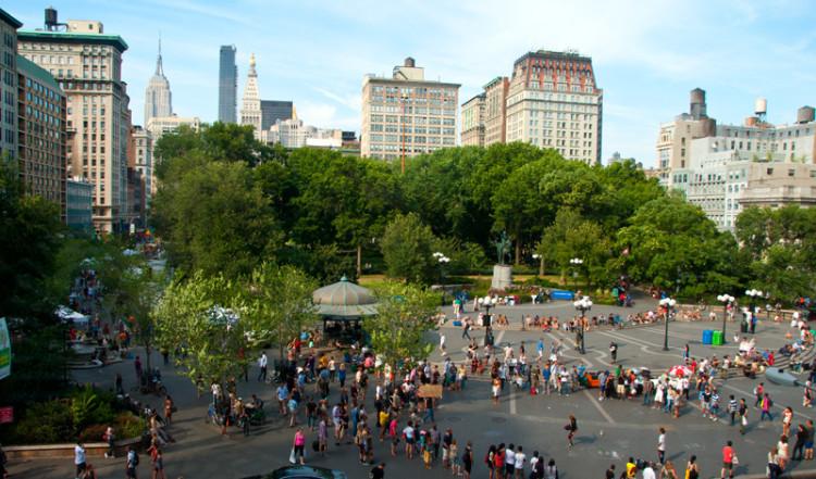 Union Square på Manhattan, New York