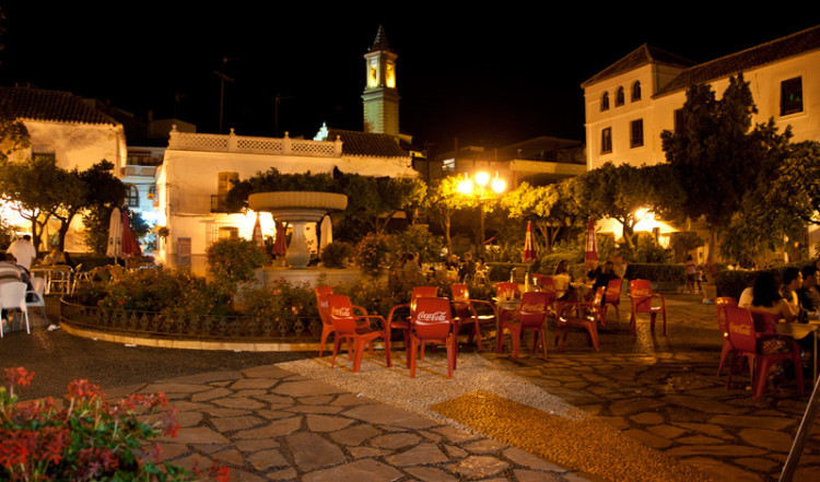 Plaza de las flores i Estepona