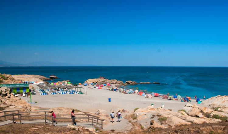 Vy över Punta Chullera strand