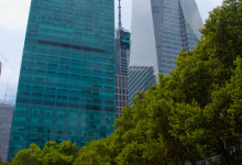 Bank of America Tower från Bryant Park, New York