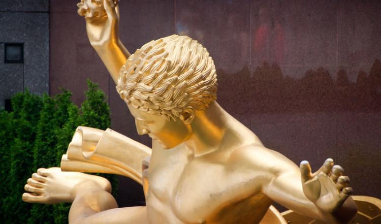 Prometheus förser mänskligheten med eld, Rockefeller Center NYC