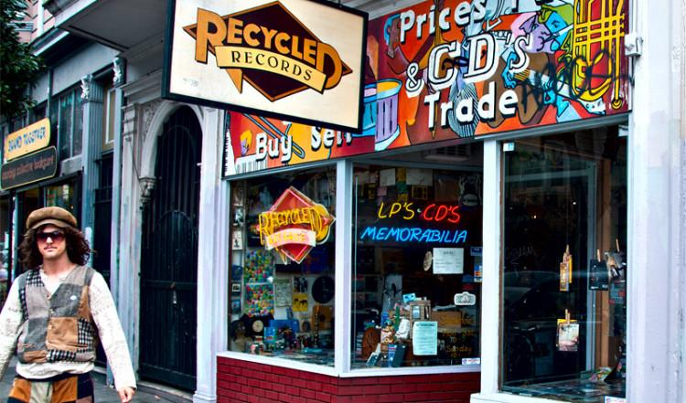Recycled Records Haight Street, San Francisco