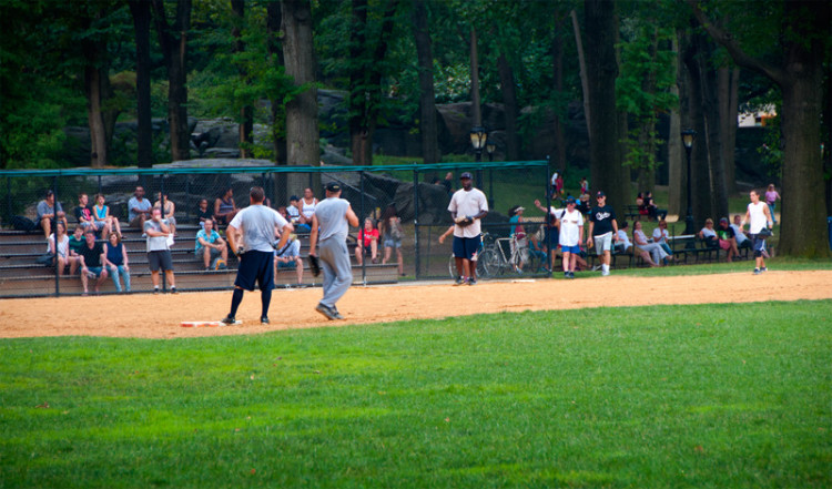 Baseball match i Central Park, New York