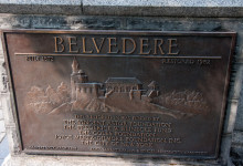 Skylt på Belvedere Castle i Central Park, New York