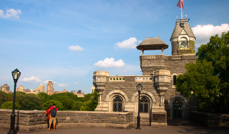 Vackra Belvedere Castle i Central Park, New York