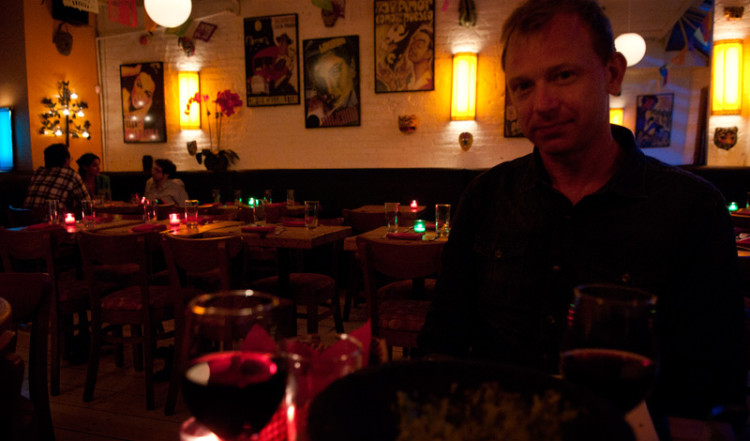 Lasse på Papatzul restaurang i SoHo, New York