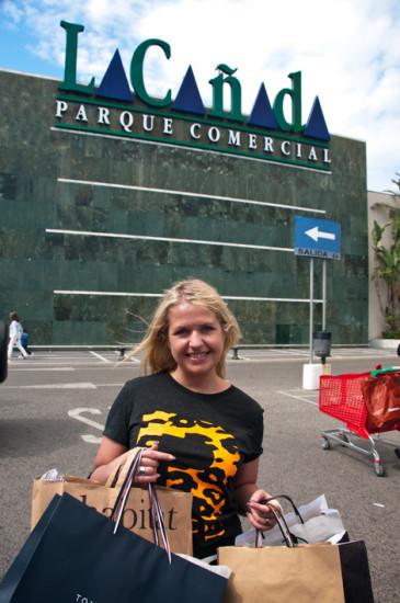 Anki har shoppat på La Cañada i Marbella