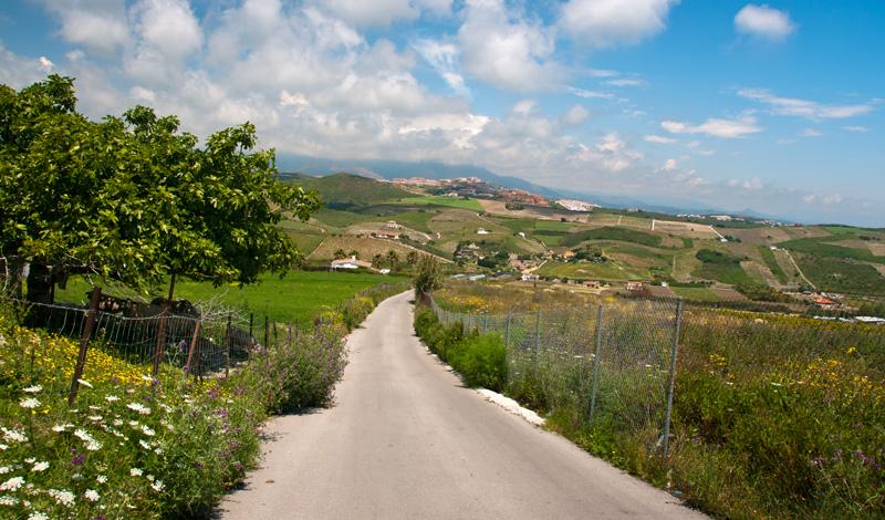 Landsväg vid Monte Viñas, Manilva
