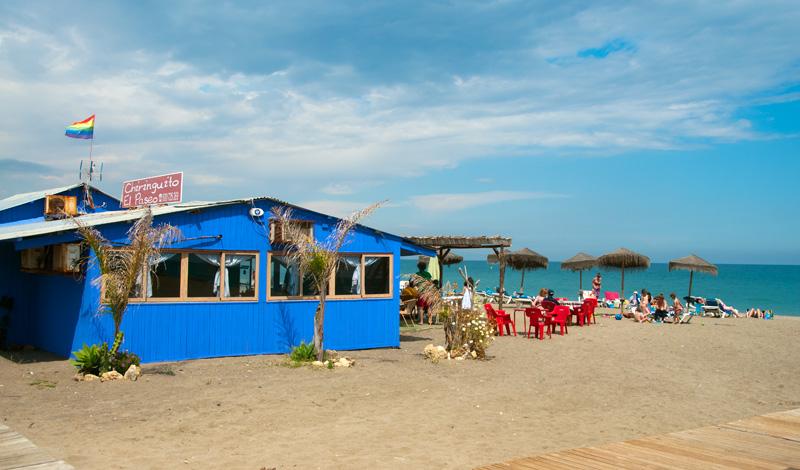 Chiringuito El Paseo på Sabinillas strand, Manilva