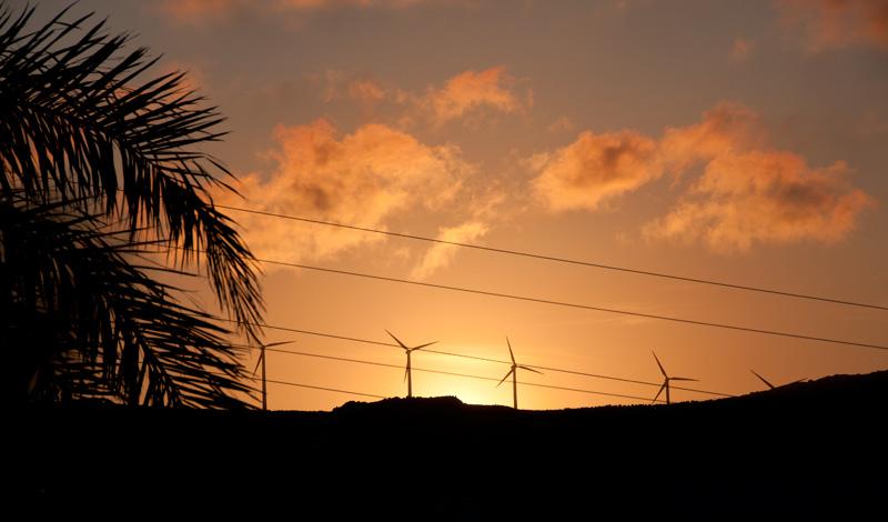 Solnedgång från Monte Vinas, Manilva