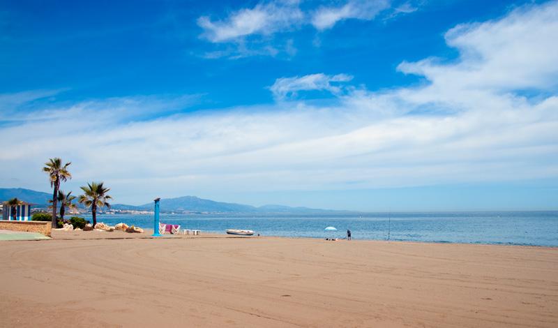 Stranden i Sabinillas från Bar Los Ibericos Jabugo, Sabinilla