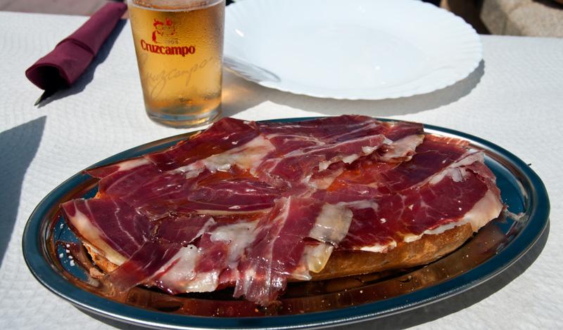 Pan Classico på Bar Los Ibericos Jabugo, Sabinilla