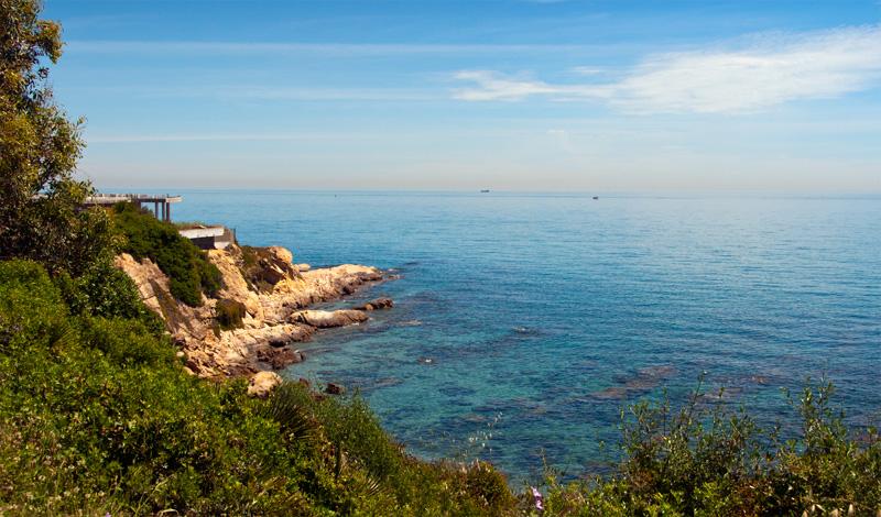 Havsutsikt vid Punta Chullera, Spanien