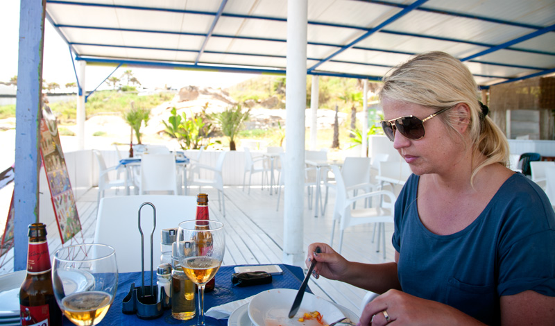 Anki på Sal y Sol, Punta Chullera