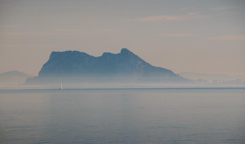 Gibraltar sen eftermiddag från Punta Chullera