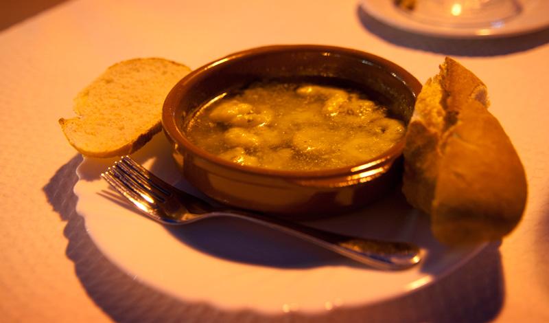 Gambas ajillo på Bar Los Ibericos restaurang Sabinillas