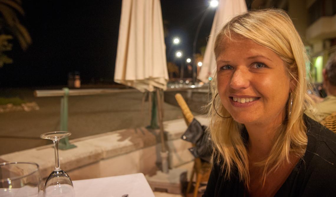 Anki på Restaurante El Pescador i Estepona