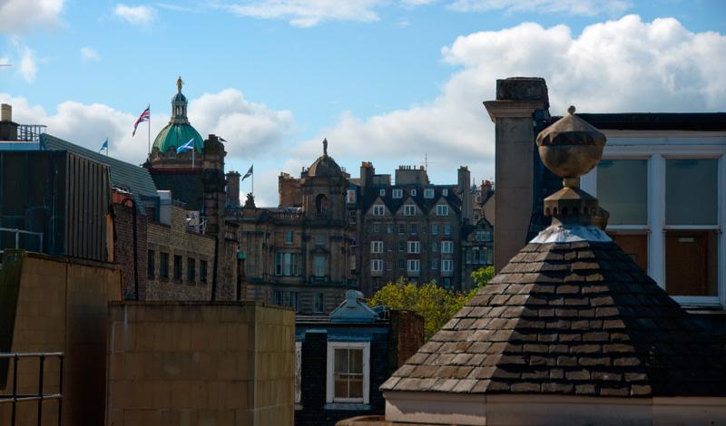 Utsikt från Berlin rummet på Le Monde Hotel, Edinburgh