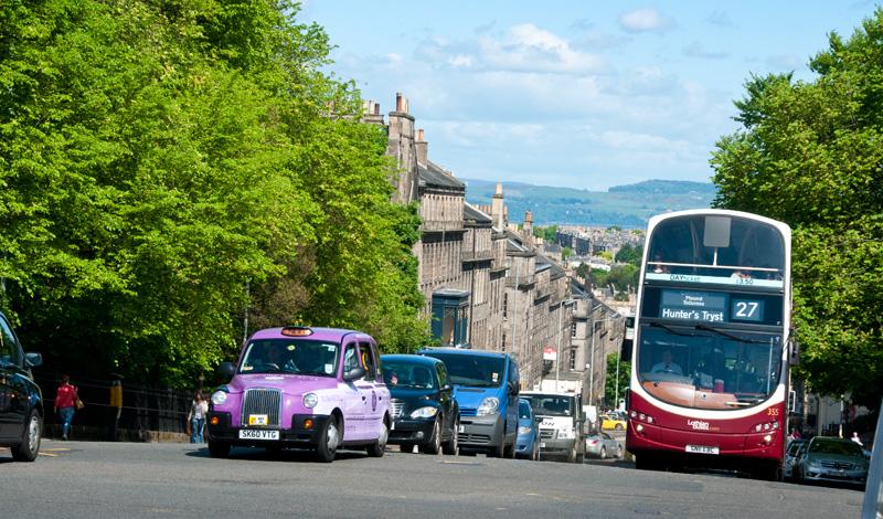 Gatuvy i Edinburgh