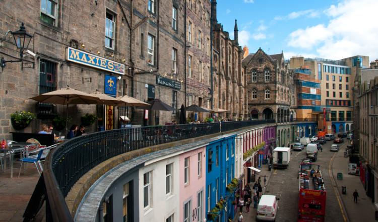 Victoria Terrace ovanför Victoria Street, Edinburgh
