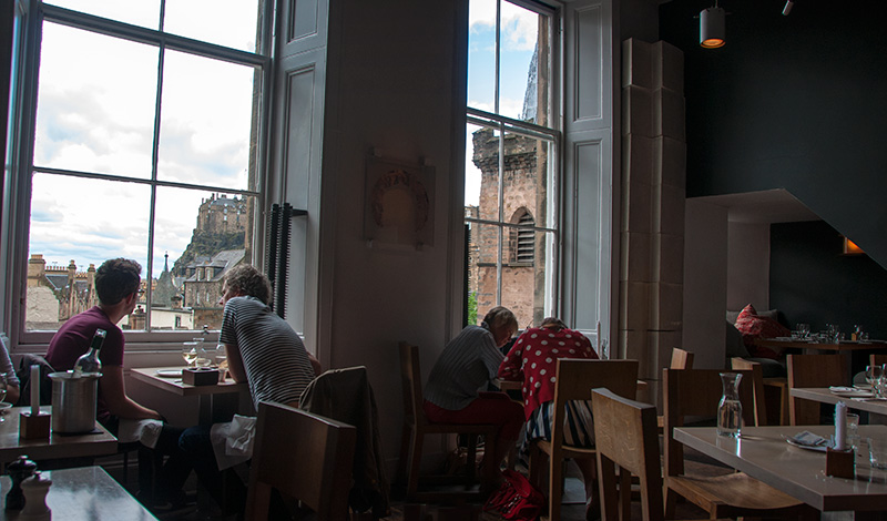 Interiör The Outsider restaurang i Edinburgh