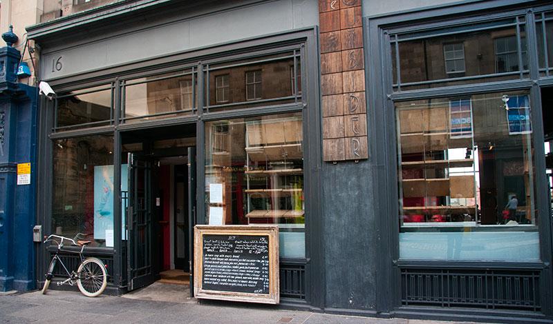 The Outsider restaurang i Edinburgh