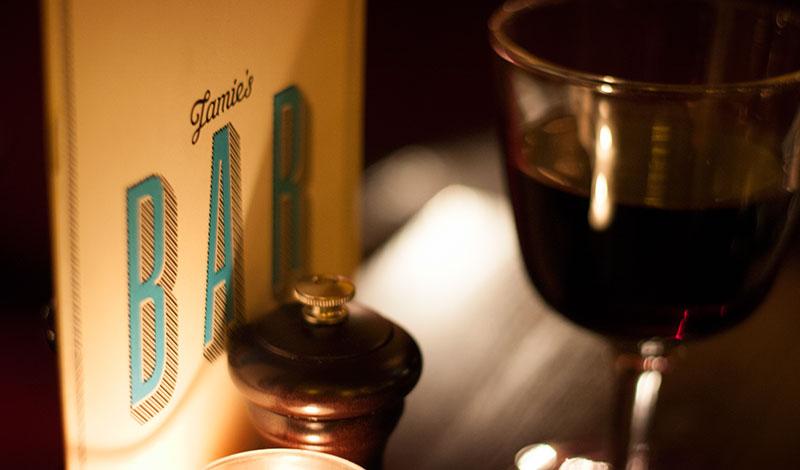 Meny och vin på Jamie Olivers Italian, Edinburgh
