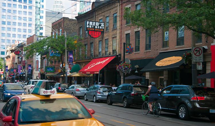 King Street Entertainment District Toronto Kanada