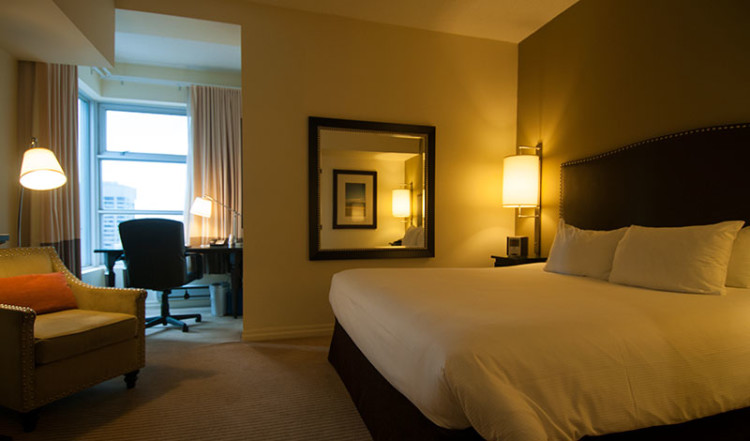 Dubbelrum på One King West Hotel i Toronto