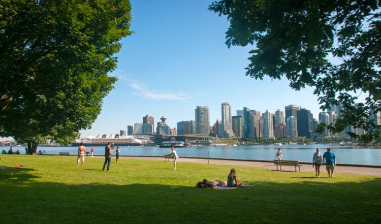 Utsikt över Vancouver från Stanley Park