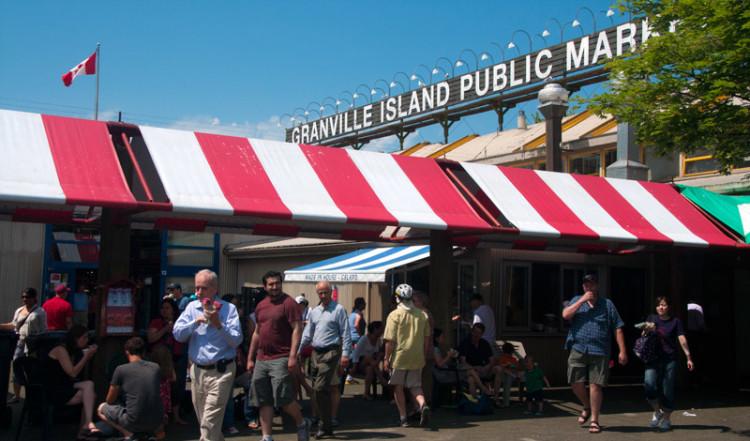 Granville Island Public Market exteriör, Vancouver BC
