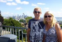 Anki och Lasse, Kerry Park på Queen Anne Hill