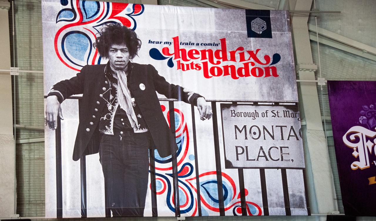 Reklam för Hear My Train a Comin': Hendrix Hits London, EMP Museum, Seattle