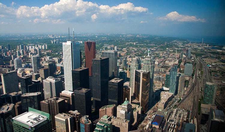 Downtown Totonto från CN Tower