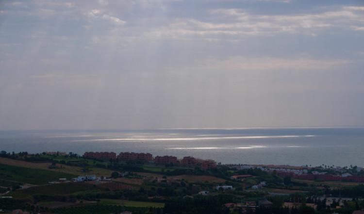 Medelhavet vid Sabinillas sett från Monte Vinas, Manilva