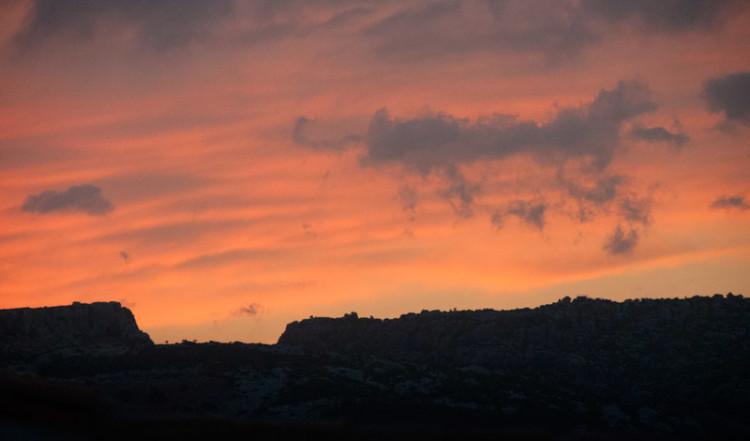 Solnedgång i Manilva, Spanien
