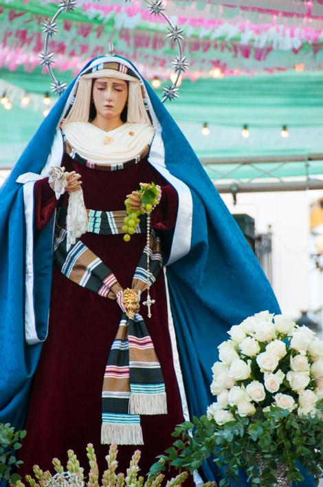 Procession, Fiesta de la Vendimia, Manilva
