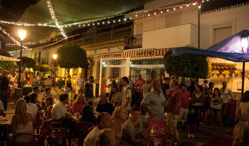 Dans längst med Calle Mar, Fiesta de la Vendimia, Manilva