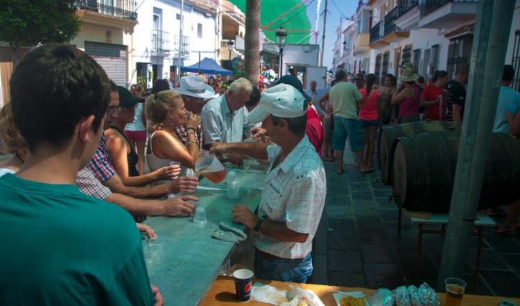 Provning av Manilvavin, Fiesta de la Vendimia, Manilva