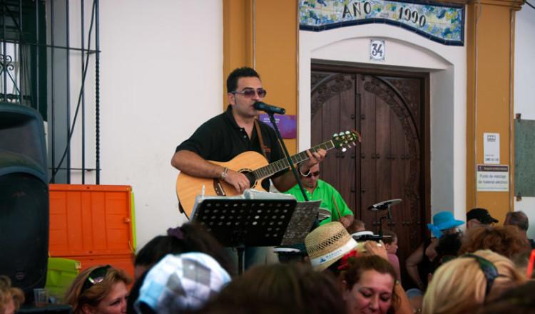 Live musik på Calle Mar, Fiesta de la Vendimia, Manilva