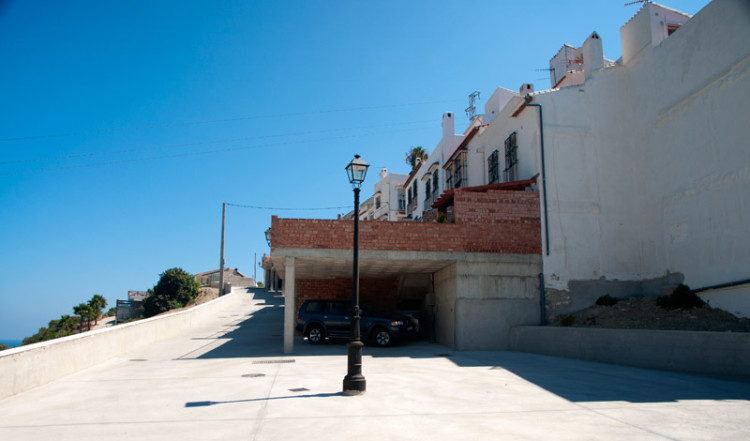 Nere vid de nya tillbyggnaderna i Monte Viñas