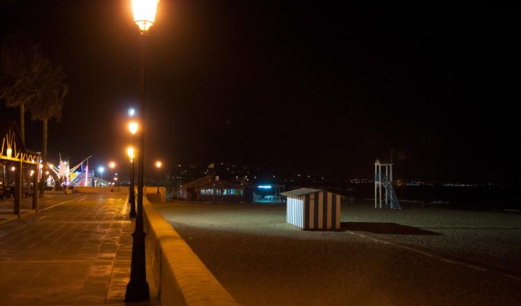Sabinillas strand kvällstid