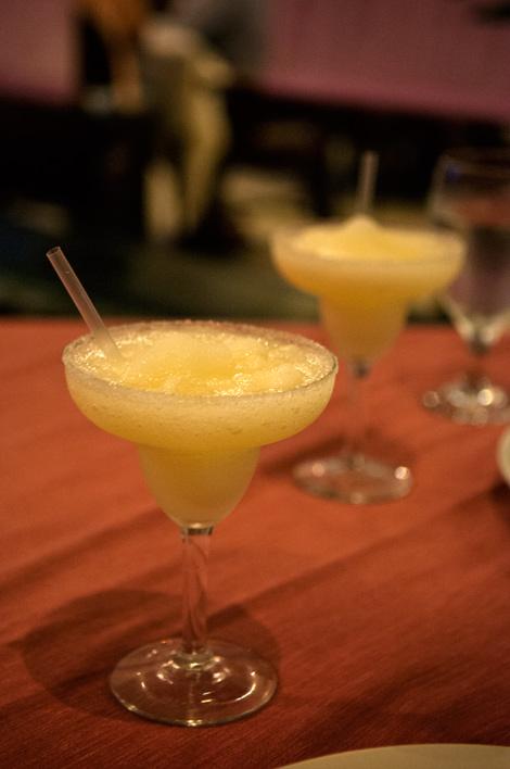 Margaritas på Adonis Mexikanska restaurang, Tulum