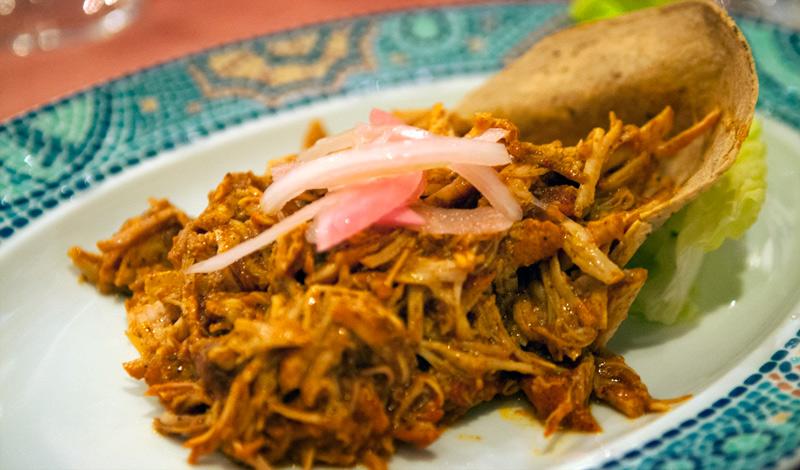 Huvudrätt på Adonis Mexikanska restaurang, Tulum